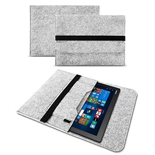 UC-Express Tasche Hülle kompatibel für Lenovo Ideapad Miix 320 310 300 Filz Hülle Sleeve Cover Bag Schutzhülle, Farben:Helles Grau