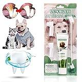 Dentifricio per Cani, Dog Toothpaste, Dog Toothbrush, Dentifricio Gatto, Kit per Cure odontoiatriche per Cani, Migliora l'igiene Orale Previene Le Malattie Gengivali e la Placca, i Denti Puliti