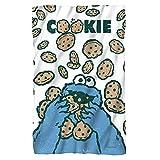 """Sesame Street Cookie Crumble Fleece Throw Blanket (36""""x58"""")"""