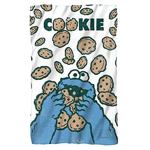 Sesame Street Cookie Crumble Fleece Throw Blanket (36\