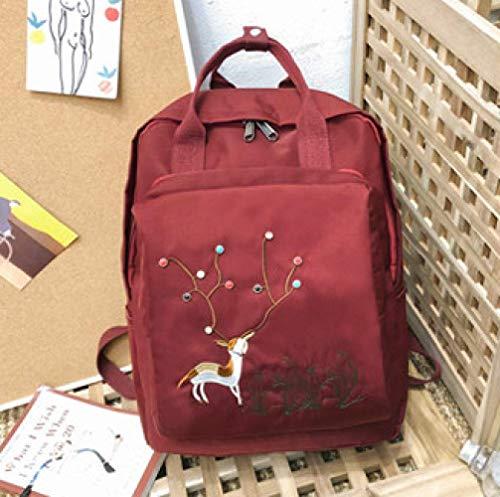 ZXL@ED Girl Backpack Neutral Backpack School Bag Waterproof Sports Gym Bag High Capacity Middle School Student College Style Leisure Bag/Red/Uniform Code