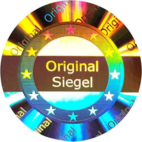 105 Stk - 3D Hologramm Original-Siegel 25mm silber glänzend - Sicherheitssiegel, Qualitätssiegel, Garantiesiegel, Sicherheitsetiketten, Etikett selbstklebend, Antifake Sticker Security Label Aufkleber