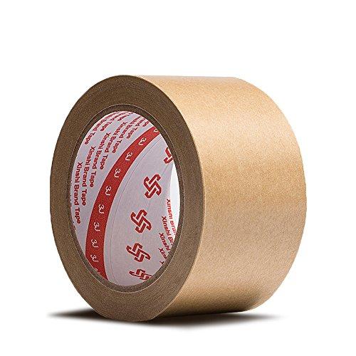 Zhi Jin 1roll papier kraft ruban adhésif épais Plat Emballage rubans d'étanchéité de masquage pour boîte de carton 50 m 25mm