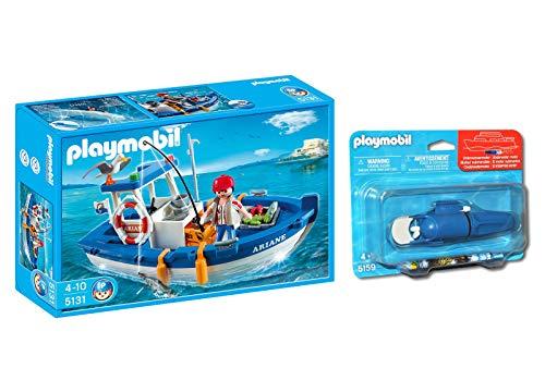 Outletdelocio. Playmobil 5131. Barco de Pesca con Motor Incluido. Navega de Verdad por el Agua. 33588/17357
