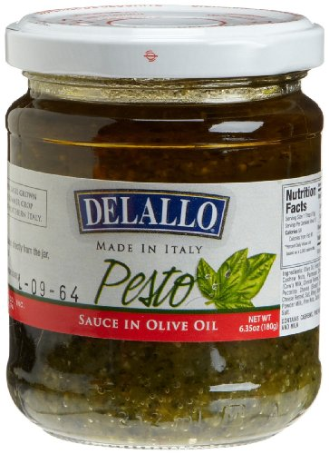 DeLallo Pesto Sauce in Olive Oil, 6.35-Ounce Jars (Pack of 12)
