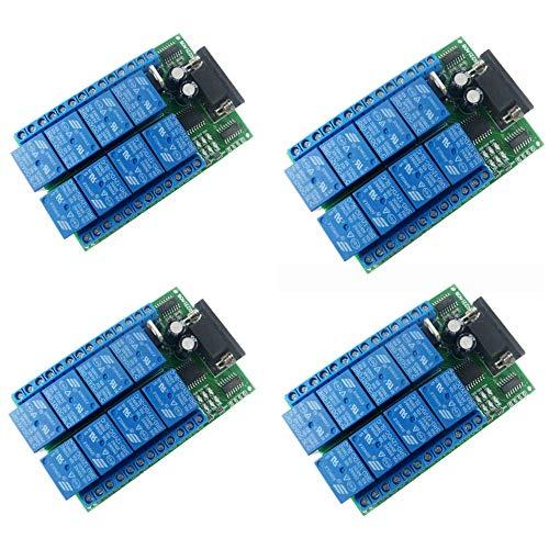 Eletechsup DC 12V 8 Channel RS232 Relay Board PC USB UART DB9 Remote Control Switch for PLC Smart Home Garage Door Car Alarm Farm Motor (4)