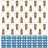 30 Pack Wine Bottle Lights with Cork - 90 Spare Batteries String Lights 20 LEDs/Pack...