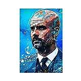 Poster mit internationalem Fußballspieler Pep Guardiola,