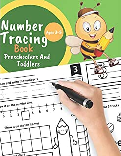 Number tracing book for Preschoolers And Toddlers Ages 3-5: Learn numbers 0 to 20! Learning the easy Maths for kids. Great Gift for Toddlers and Preschoolers.