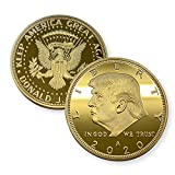 Aizics Mint Donald Trump Coin 2020 24 kt Gold Plated United States Eagle Collectible Coin with Certificate of Authenticity Original Design Keep America Great