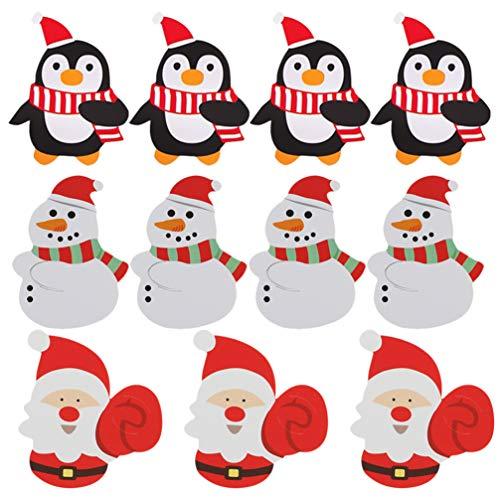 Artibetter 450 Stück Weihnachtslutscher Karten Süßigkeiten Halter Dekoration Weihnachtsmann Pinguin Muster Süßigkeiten Verpackung Dekorationen für Weihnachtsfeier Lieferungen