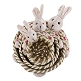 ZNYD 1 Set 3 unids Canasta de Canasta de Huevo de Pascua Decoración de Muebles para el hogar (Color : Rosado, Talla : 23x23x7cm)