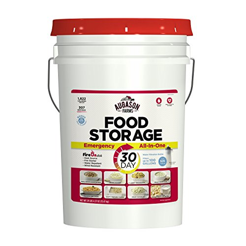 Augason Farms 1-Year 1-Person All-in-One Emergency Food Storage 12 Pail Kit