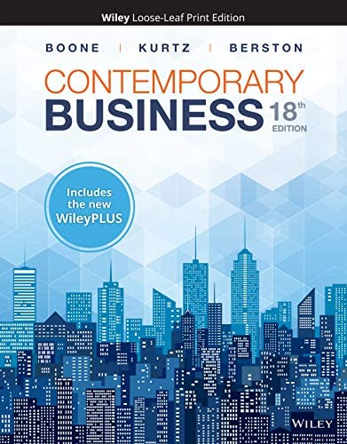 Contemporary Business 18e WileyPLUS NextGen Card with Loose Leaf Print Companion Set product image