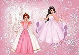 DekoShop Fototapete Vlies Tapete - Wanddeko Wandtapete Prinzessin Kinderzimmer Mädchen AMD12529V4 V4 (254cm. x 184cm.) Für Kinder