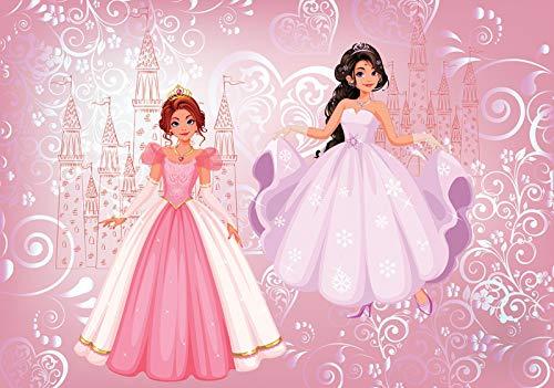 DekoShop Fototapete Vlies Tapete - Wanddeko Wandtapete Prinzessin Kinderzimmer Mädchen AMD12529V8 V8 (368cm. x 254cm.) Für Kinder