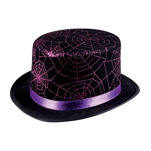 Boland- Cappello Glitter Ragnatela Spider Web per Adulti, Nero/Viola, Taglia Unica, 00806