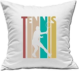 Desconocido Tennis Player Vintage Poster Style Almohada Blanca 40x40cm