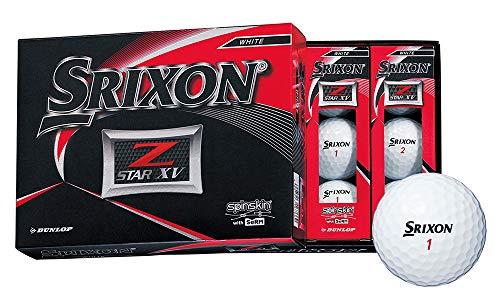 DUNLOP(ダンロップ) ゴルフボール SRIXON Z-STAR XV ゴルフボール 2019年モデル 1ダース(12個入り) ホワイト