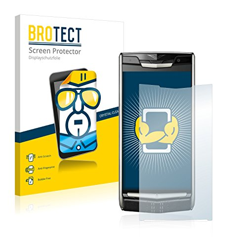 BROTECT Schutzfolie kompatibel mit Vertu New Signature Touch (2 Stück) klare Bildschirmschutz-Folie