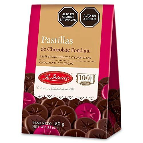 La Iberica Pastillas de Chocolate Fondant 52% Cacao Peruano   Semi-Sweet Chocolate Pastilles 52%...