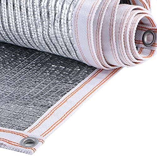 Gartensichtschutz Sonnenschutznetz Silber Sunblock Shade Cloth mit Ösen, 75% Reflektierendes Aluminet Schattierungsnetz zum Zwinger Auto Dach Balkon Deck, Einfach Einzurichten (Size : 1mx1m)