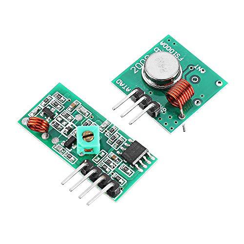 Guiping Smart Modul 100 Stück 433 MHz RF Decoder Transmitter mit Empfängermodul-Kit für Arduino – Produkte, die mit offiziellen Arduino Boards funktionieren.