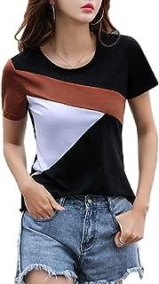 FreshTrend Black Brown White Cotton Round Neck Tshirt for Women …