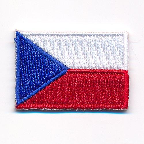 30 x 20 mm Tschechien Flagge Czech Republic Patch Aufnäher Aufbügler 0922 Mini