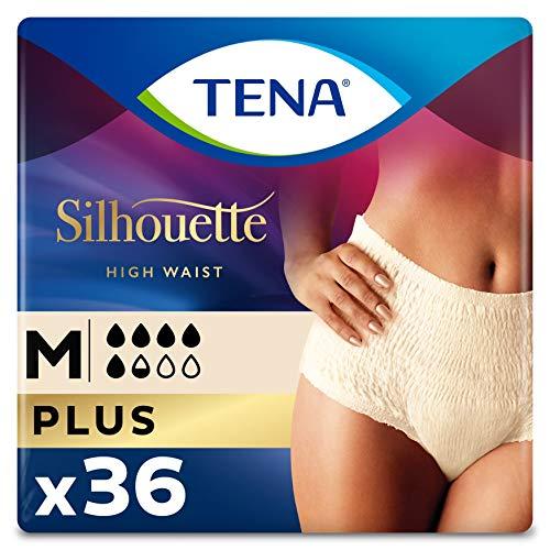 Tena Silhouette Culottes d'Incontinence pour Femme pour les Fuites Urinaires Modérées Paquet de 36 Taille Moyenne