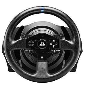Thrustmaster T300RS, Volante de Carreras y Pedales, PS4 y PC, Force Feedback RealSimulator – Funciona con juegos de PS5