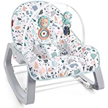 Fisher-Price Infant-to-Toddler Rocker - Pacific Pebble, Portable Baby Seat, Multi