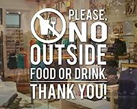 カフェウォールウィンドウステッカー食べ物や飲み物はご遠慮くださいありがとうサインビニールデカール壁画防水レタリングウォールステッカー装飾42X49cm