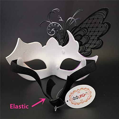 Pink/Purple Butterfly Rhinestone Metal Venetian Women Mask for Masquerade/Mardi Gras Party/Sexy Costume Ball/Wedding