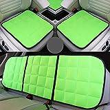 De seda del hielo del asiento de coche cubierta, asientos delanteros y traseros, asiento transpirable Pads Protección, adecuado para la mayoría de 5 plazas Coches,Verde