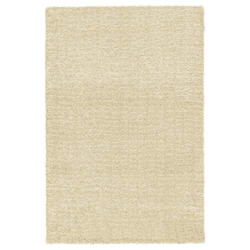 Kurzflor-Teppich IKEA Langsted - Alfombra (pelo grueso, 133 x 195 cm), color beige