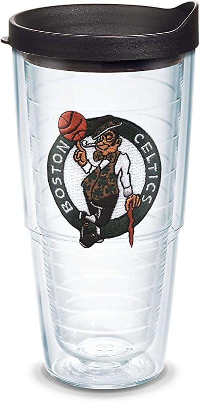 Tervis 1051588 NBA Boston Celtics Primary Logo Tumbler With Emblem And Black Lid 24oz Clear