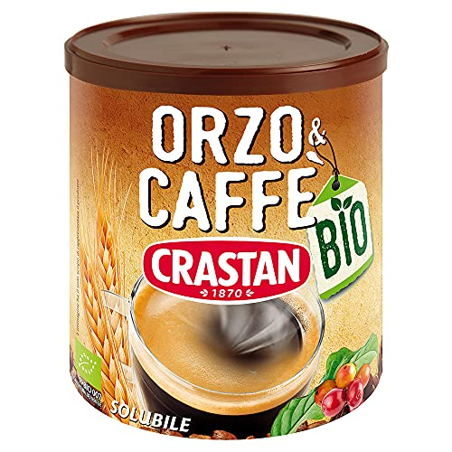 Crastan Solubile - Orzo & Caffè da agricoltura biologica - 6 Barattoli da 120g [tot. 720g]