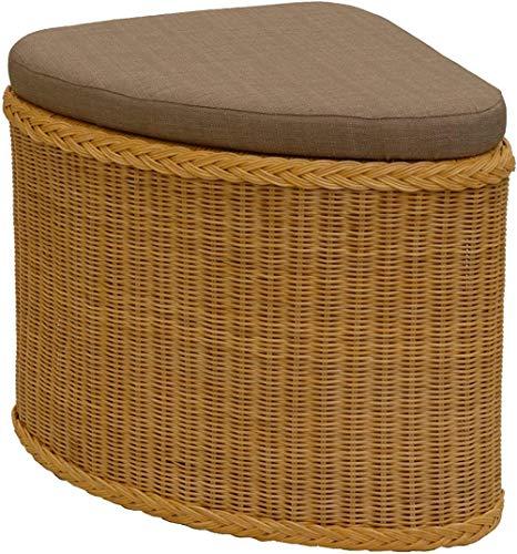 korb outlet Cesto de lavandería de ratán Asiento acolchado Honey Pasillo Banco Caja de almacenamiento con tapa Taburete de baño Taburete Cesto de lavandería Asiento Cofre Natural