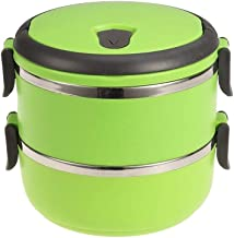 WCHCJ Thermal Lunch Box- Double Layer Stainless Steel Thermal Insulated Stackable Lunch Box Bento Food
