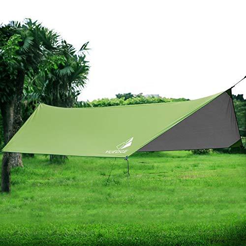 HNXCBH Ultraleicht Tarp Outdoor-Camping-Überleben Sun Shelter Schatten Markise Grün Beschichtung Pergola wasserdichte Strand-Zelt Sonnensegel Rechteckig (Color : Green)
