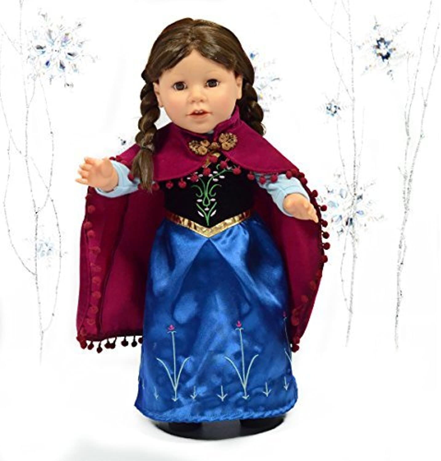 Anna Princess Royal Dress with Cape for 18 Inch Dolls  American Girl Doll Clothes by The New York Doll Collection
