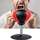 JAB Desktop Punching Bag Mini Desk Punching Ball for Adulti Bambini Sfera di velocità con Heavy Duty Molla Potente Ventosa Stress Buster Migliori Regali + Pompa a Mano
