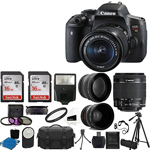 Canon EOS Rebel T6i SLR Camera 18-55mm f/3.5-5.6...