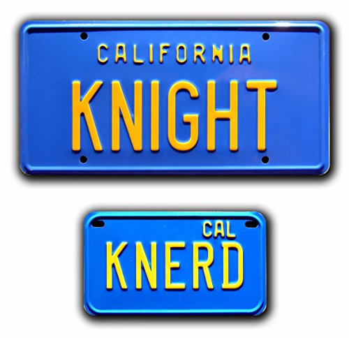 Knight Rider | KNIGHT + KNERD | Metal Stamped License Plates