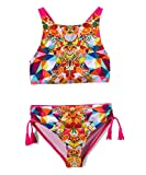Jantzen Big Girls' Two-Piece Bikini Swimsuit (7-16) (Pink Kaleidoscope Print, 12)