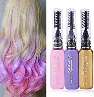 GGJIN Temporary Color Hair Dye Mascara Hair Chalk Non-toxic Hair Dye Salon (Color : #12)