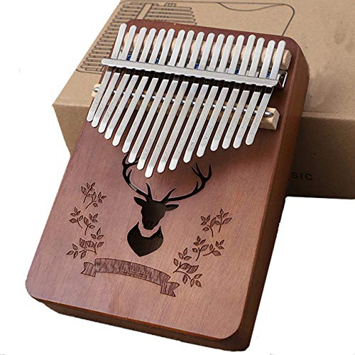 LHR 17-Key Thumb Piano, Carimba Tragbare Mbira Tasche Daumen Klavier Massivholz Braun Kitz Mit Papierbox Geeignet Für Kinder Erwachsene Anfänger Unterhaltung