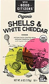 Good Citizens, Shells White Cheddar Organic, 6 Ounce