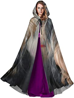 Yorkshire Terrier Posing an Grass Adult Mens Cloak Mens Cape Cloak 59inch for Christmas Halloween Cosplay Costumes
